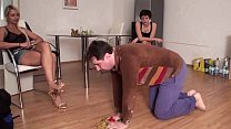 Clean up slaves of Femdom Girls
