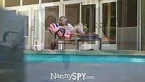 Image: NannySpy Exhibitionist nanny Lena Paul caught and fucks to keep job