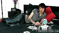 Emo gays long porn Hot emo lad Lewis Romeo gets down and dirty in his