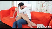 Delectable brunette babe Anna Rose fucks with hunk