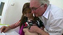 Nice schoolgirl gets seduced and reamed by older schoolteacher