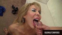 Mature Erica Lauren sideways sex session
