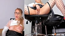Toying My Pussy Squirting On My Office Chair | KATE.HOT4CAMS.COM