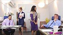 Gigi and Katalina give good massage on their boss video