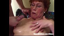 Redhead Stepma Breasts Cum Showered