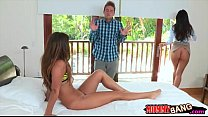 India Summer and Eva Lovia threesome sex with l...