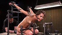 Hot slave screams in device bondage