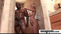 Babe gives erotic soapy massage 1