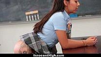 InnocentHigh - Schoolgirl Offers To Be Teachers SexToy image