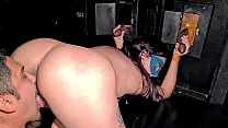 Brazilian milf hot wife in the cabin of the swing party of Casal Doidera fucked a lot by Dj Jump and sucked many dicks in the glory hole