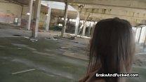 Crazy hot brunette loves public sex for cash thumbnail