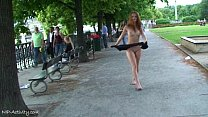 Denisa - Sweet Redhead Babe Naked In Public Streets preview image