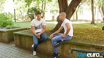 RAWEURO Cute Euro Twink Invited for Hot Coffee and Raw Cock