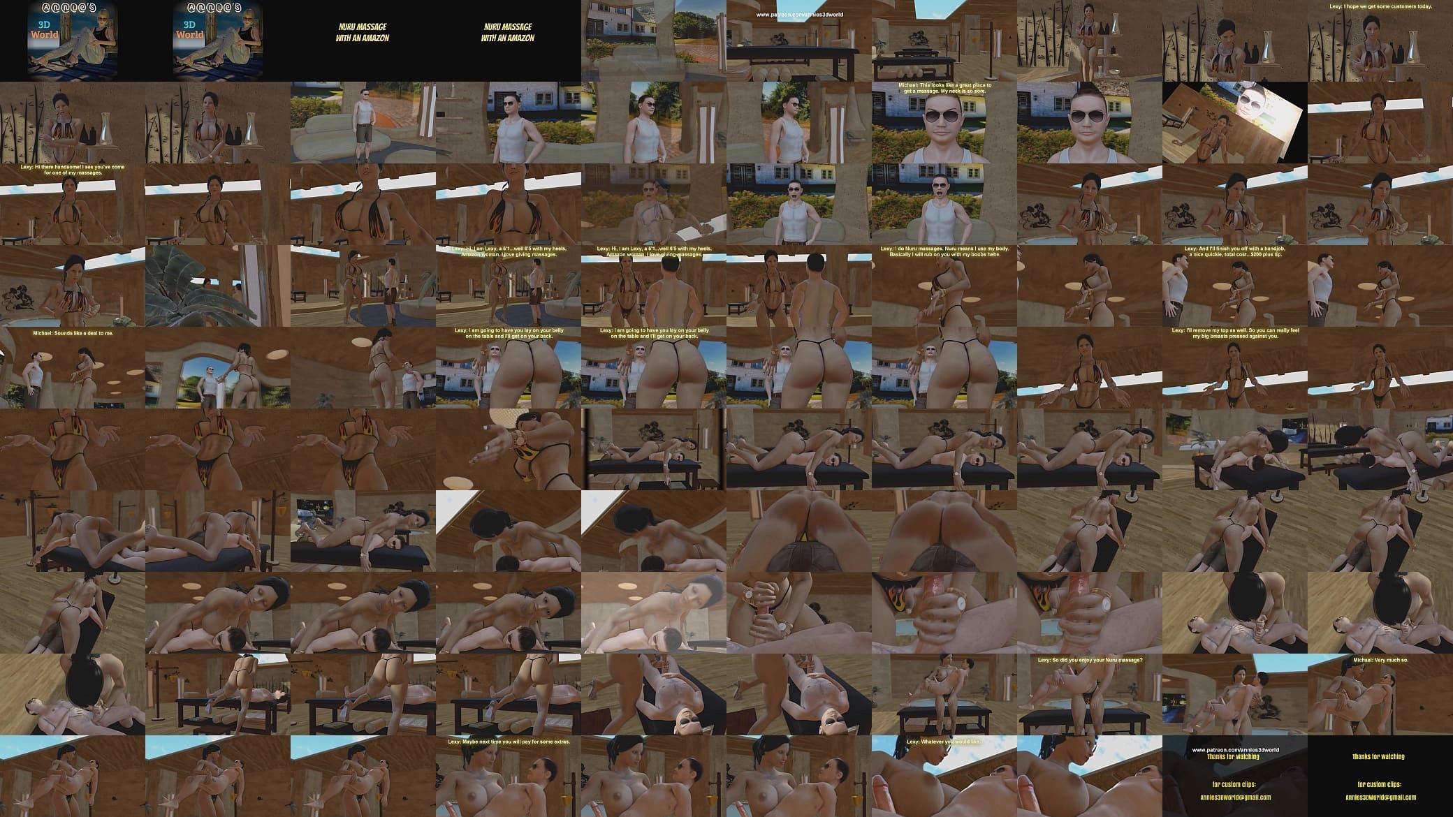 Amizone Porn Animated amazon nuru massage - xvideos