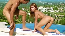 Alexa Nicole hardcore sex sunbathing, sex in Nature