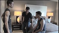Ralph Woods, Pierre Fitch & another guy on bed