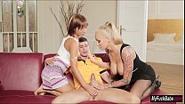 Stepmom Kayla Green joins Tina Hot and lover in a threesome
