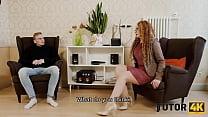 TUTOR4K. Instead of learning English guy seduces his experienced tutor