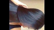 Long hair beautiful babes dance and hair play 2015