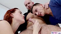 Bisex step-daddy fucks his son and his GF