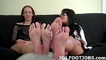 Shoot your sweet cum right on my little toes JOI