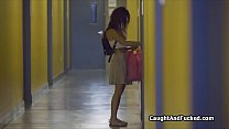 Voyeur catches big tit teen stripping Preview
