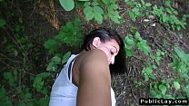 Sexy Czech brunette amateur has public sex