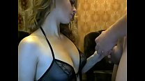Pretty girl does Blowjob and Fucks on webcam