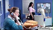 Big Melon Tits Girl (Ava Addams & Riley Jenner) Love hardcore Sex In Office video-04