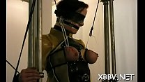 Chubby female fastened up and forced to endure sadomasochism xxx Thumbnail