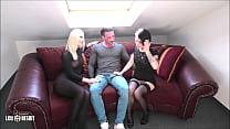 2 girls seduce a man Lou Nesbit, Lia Louise