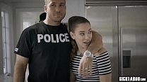 Corrupt pervert policeman banged brothers sexy fiancee