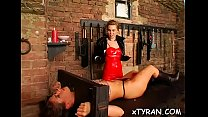 Naughty female-dom humiliates