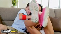 BANGBROS - Football Night Turns Into Fuck Night with Busty Amia Miley thumbnail