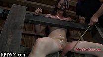 Boxed up girl is  tortured