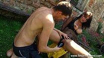 Firstanalquest.com - EXTREME ANAL WITH VEGGIES AND HIS COCK IN HER ASSHOLE Vorschaubild