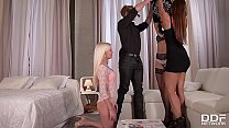 Image: Extremely hot strip poker orgy with Aida Sweet & Candee Licious & Amirah