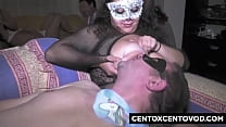 Immacolata di Acillia and La Bisboccia breastfeed and get fucked in orgy CentoXCento