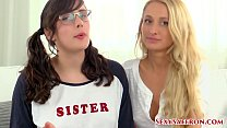 Petite MILF Stepmom & Bratty Step Sister Teach You How to Jerk Off! With Saffron Bacchus and Misha Mynx!