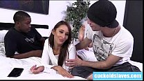 Redhead gets horny to cheat with black cock