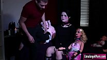Petite goth babe ass fucked by big cock