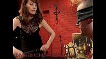 Tied up guy gets femdom cbt and whipping and strapon cock fucking thumbnail