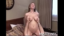 Nude lady Tanya with massive natural tits gets her cunt torn apart