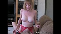Mom Riding Son's Cock On The Couch thumbnail