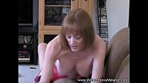 Mom Riding Son's Cock On The Couch