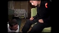 MOSCOW SLAVE Tramplin gay boy feet trampling