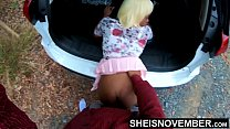 Big Booty Black Babe Step Daughter Fucked Hardcore Doggystyle Outside In Public By Older Step Father , Little Msnovember Innocent Pussy Pounding 4k Sheisnovember صورة