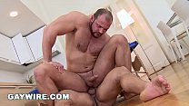GAYWIRE - Strong, Beefy Bears Tomm & Marcus Have Gay Sex After The Massage