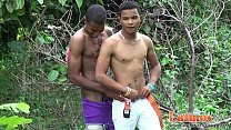 Cock-hungry Latin twinks blowing meat in the woods