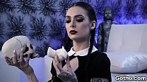 Gorgeous Gothic slut Marley Brinx is ready for some sex adventure with her horny boyfriend Markus Dupree. pornhub video